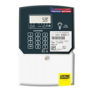 Recharger Gemlite Single Phase Prepaid Electricity Meter - 80Amp