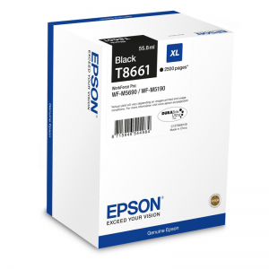 Epson T8661 Durabrite Ultra Black Ink Cartridge XL 2.5K  for WF-M5xxx
