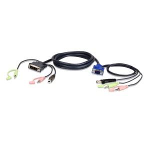 Aten 1.8M USB DVI-A/VGA  KVM Cable