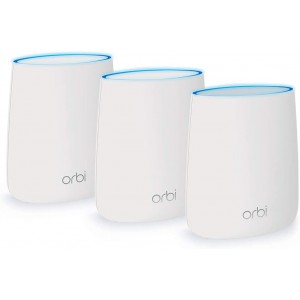 NETGEAR Orbi Tri-band Whole Home Mesh WiFi System with 2.2Gbps speed (RBK23) Router & Extender