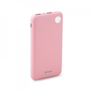Wesdar 10000mah S61 Pink Power Bank