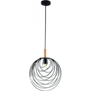 ACDC Dynamics Scandinavian Range Metal and Wood Pendant Light - Black