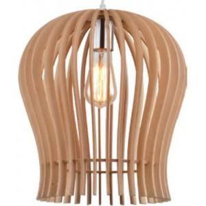 ACDC Dynamics Scandinavian Range Jar Shaped Pendant Light - Wood