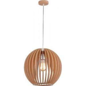ACDC Dynamics Scandinavian Range Sphere Shaped Pendant Light - Wood