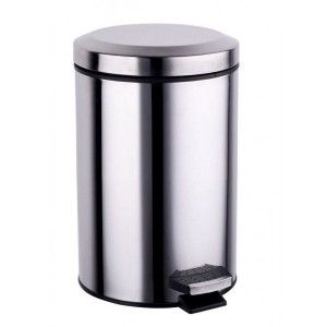 SDS Stainless Steel Pedal Waste Bin - 12 Litre
