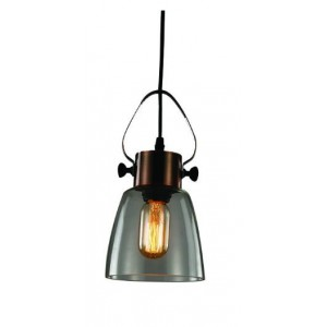 ACDC Dynamics Industrial Look Range Pendant Light - Antique Copper and Glass