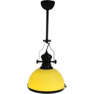 ACDC Pendant Lighting –Classic Range – Orange Glass and Black