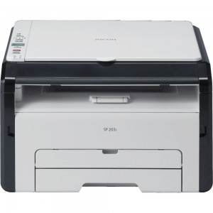 RICOH SP203S A4 Mono MFP Laser Printer 3 in 1 prints, Copy and scan - prints 22 ppm