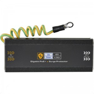 Utepo Single Channel Network Gigabit Surge Protector 10/100/1000Mbps + PoE