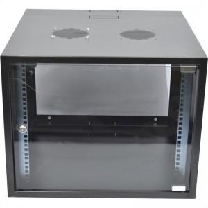 9U Swingframe Wallbox - 600mm Deep Incl Fan and 5-Way 3m Power Lead