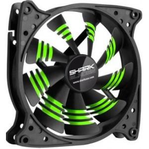 Sharkoon Shark 120mm X 120mm X 25mm PC Fan - Green Blades