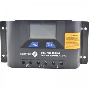 Nemtek Solar Regulator - 12V-24V 15A - 24V Auto Select - LCD