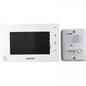 "Kocom - 4 Wire 7"" Col Handsfree Video Kit - White"