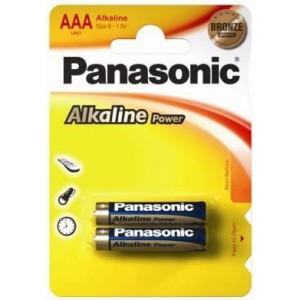 Panasonic Alkaline AAA Battery 2Pack  (12x 2 Packs Minimum quantity)