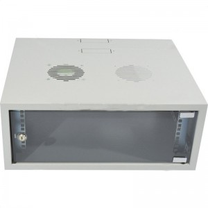 4U 300 X 200mm Collar Swing Frame Wall Box incl Fans and Power - Grey