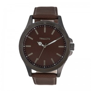 Tomato Gents Gun Brown Dial 49mm Case Watch