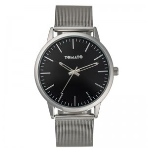 Tomato Gents Silver Black Dial 45mm Case Watch