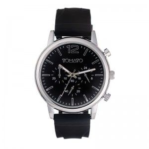 Tomato Gents Silver Black Dial 46mm Case Watch