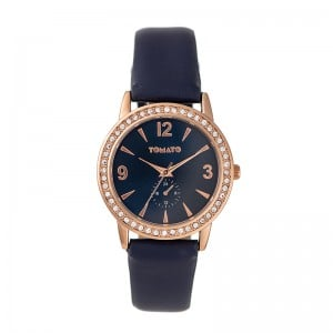 Tomato Ladies Navy Dial Rosegold Case 35mm Watch