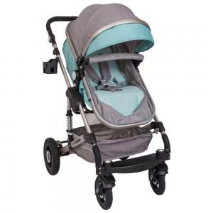 Little Bambino 3 in1 Stoller- Blue & Grey