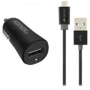 Kanex MiColor Micro USB 2.4 A Car Charger (Black)