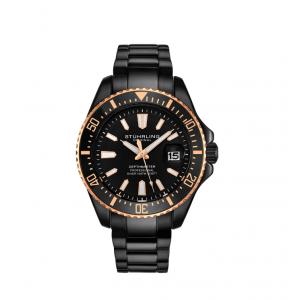 Stuhrling Original Men's Diver Black Bracelet Watch