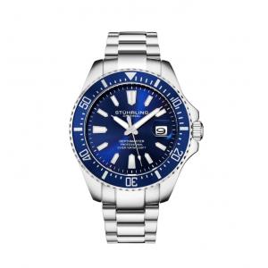 Stuhrling Original Men's Diver Silver Stainless Steel Bracelet Watch