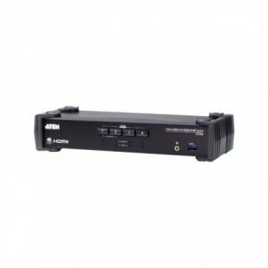Aten 4-Port USB 3.0 4K HDMI KVMP Switch with Audio Mixer Mode