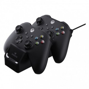 Sparkfox Xbox Series X Dual Controller Charging Dock with 2 x Rechargable Batteries - Black