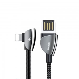 Remax RC-061 Qiker Series USB to Lightning Data Cable - Black
