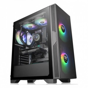 Thermaltake Versa T25 Tempered Glass Mid Tower Chassis