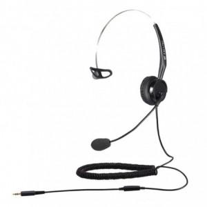 Calltel T400 Mono-Ear Noise-Cancelling Headset Single 3.5mm – Black