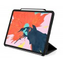 """Tuff-Luv Stand case with Stylus Holder for  Apple iPad Pro 12.9""""  (2018/2019) Stand case with Stylus Holder - Black- Black"""