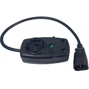 Vari Plug Male IEC C14 to Schucko/SA Plug 500mm