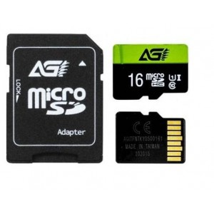 AGI 16GB MicroSD Memory Card Class 10