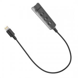 j5create Premium Audio Adapter with Lightning Connector - Black