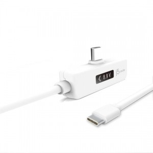 j5create USB-C Dynamic Power Meter Right Angle Charging Cable
