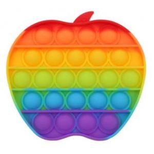 Pop It Bubble Apple Fidget – Rainbow