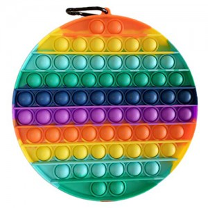 Pop It Bubble Circle Fidget – Rainbow