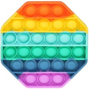 Pop It Bubble Octagon Fidget – Rainbow