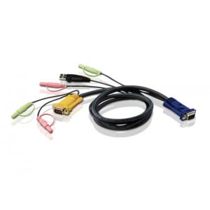 Aten 1.8M USB KVM Cable with 3 in 1 SPHD and Audio