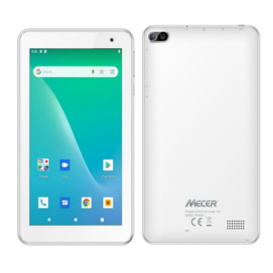 """Mecer Xpress Smartlife 7"""" Android10 Go Quad Core1.3Ghz/ 1GB/16GB/Wi-Fi & BT/0.3+2M/3G w/SIM/1024x600IPS/2400mAh/Folio/white.- New, Open Box"""