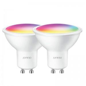 GU10 WiFi Smart Bulb 5W 350lm works with Alexa and Tuya/Smart Life App 6500K - 2 Pack