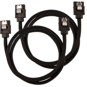 Corsair - 60cm Premium Braided Sleeved SATA Data Cable - Black
