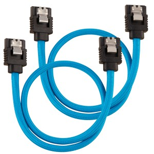 Corsair - Premium Sleeved SATA 6Gbps 30cm Cable - Blue