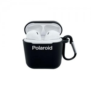 Polaroid Bluetooth True Wireless Series Stereo Earbuds with Silicone Charging Dock - Black