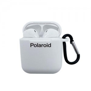 Polaroid Bluetooth True Wireless Series Stereo Earbuds with Silicone Charging Dock - White