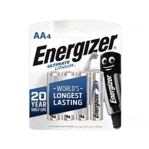 Energizer Ultimate Lithium AA- 4 Pack