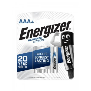 Energizer Ultimate Lithium: AAA – 4 Pack