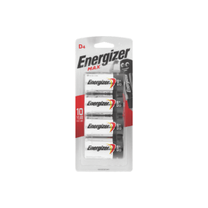 Energizer Max D Battery – 4 Pack